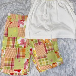 Gymboree social butterfly Madras patch shorts 7